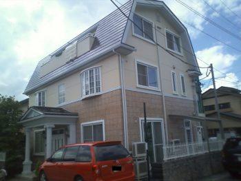 築10年木造3階建て 山形市 A様邸塗装工事・防水工事