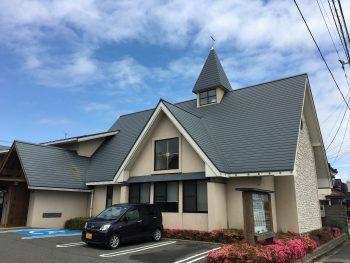 屋根塗装 外壁塗装 塗装工事事例|某教会