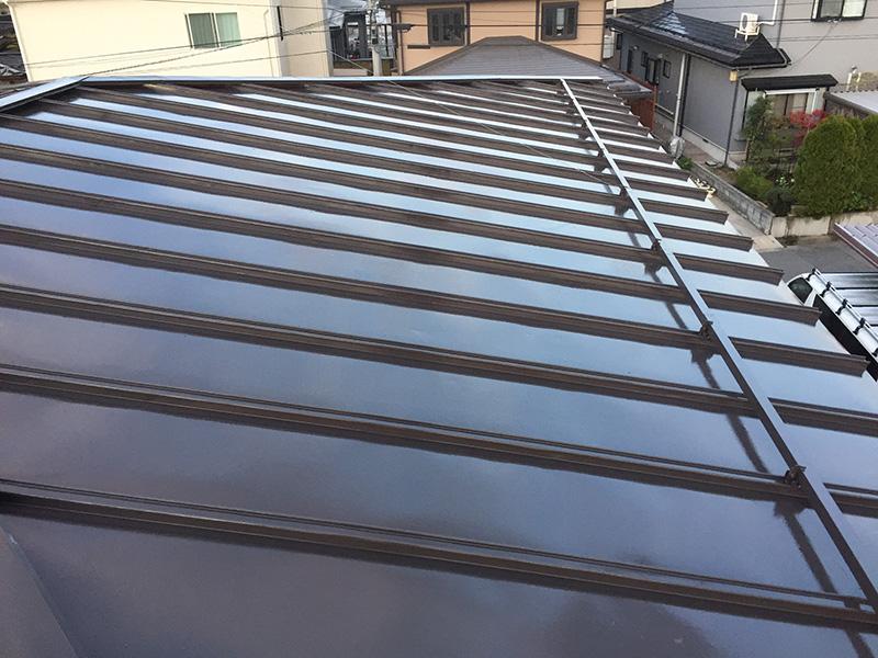 施工後の屋根の様子